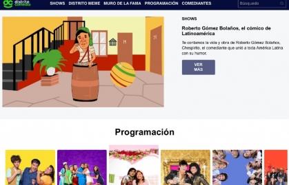 DISTRITO COMEDIA ESTRENA SITIO WEB CON NUEVOS CONTENIDOS