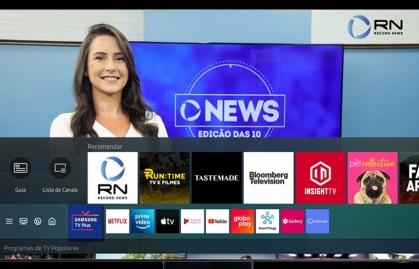 SAMSUNG TV PLUS AMPLÍA SU CATÁLOGO DE CANALES EN BRASIL CON RECORD NEWS