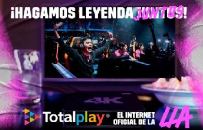 TOTALPLAY SE CONVIERTE EN EL NUEVO PARTNER E INTERNET OFICIAL DE LA LLA 2021