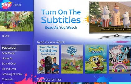 SKY, WARNER MEDIA, AND VIACOMCBS WILL ADD SUBTITLES TO OVER 500 EPISODES OF KIDS CONTENT