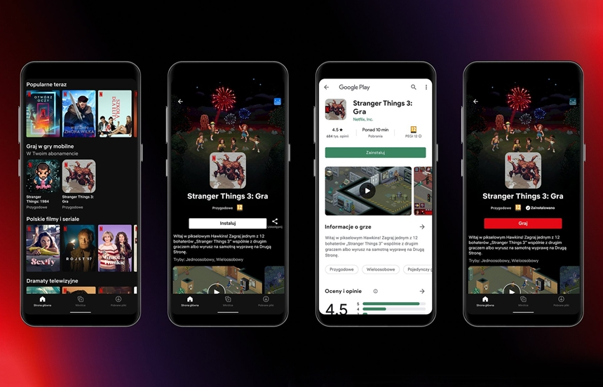 Netflix starts testing mobile games for Android in Poland