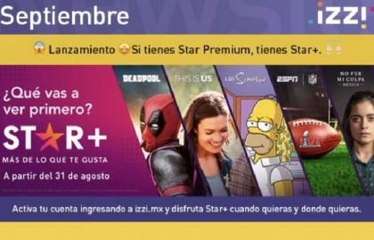 Izzi de México suma la plataforma streaming Star+ a su oferta