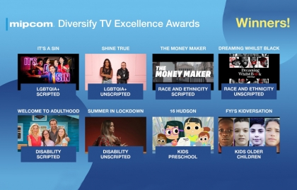 Mipcom announced the winners for its Diversify TV Excellence Awards