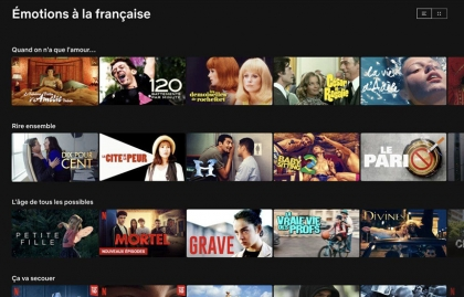 How many French films are available on global SVOD platforms?